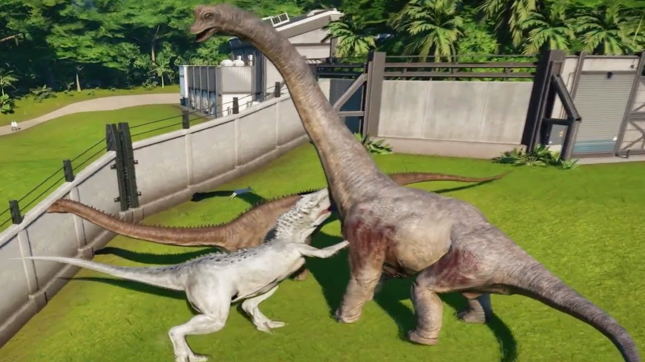 indominus rex max vs apatosaurus brachiosaurus camarasaurus
