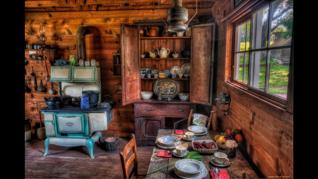 Pioneer Log Home Kitchen
