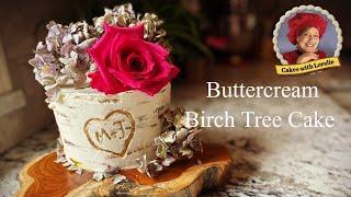 Buttercream Birch Tree Wedding Cake Tutorial  Nature Inspired Cakes with Lorelie