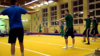 Тренировка. Акробатика 22.01.2014