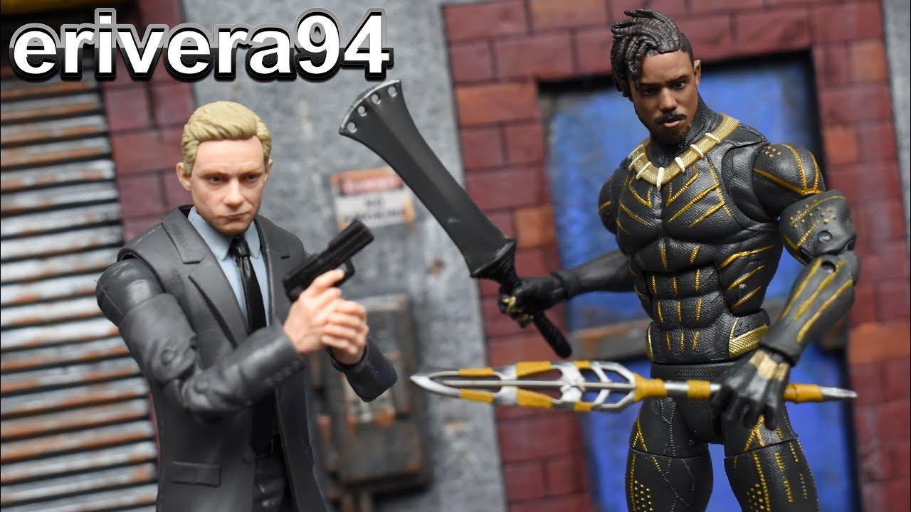 """EVERETT ROSS /& ERIK KILLMONGER 2-Pack 6/"""" Figures Marvel Legends Black Panther"""