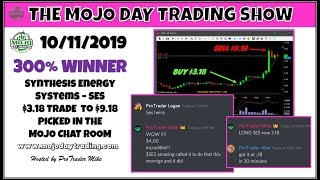 $SES from $3.00 to $26.00 🦄 The Mojo Day Trading Show
