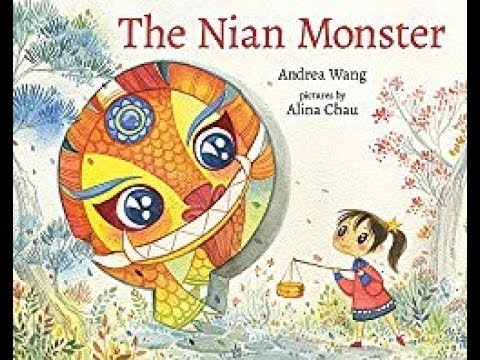 The Nian Monster Read by Andrea Wang at Newtonville Books