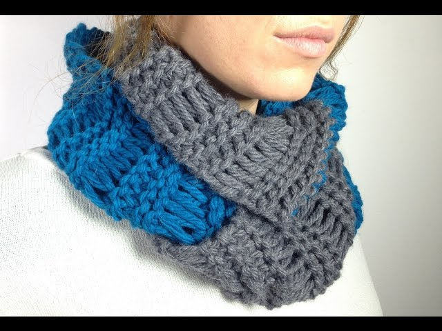 Watch How To Loom Knit An Infinity Scarf In Elongated Stitch Usin