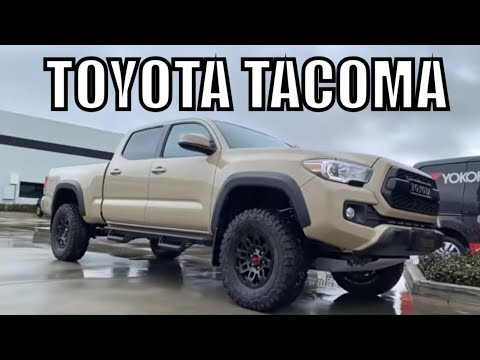 Two 2019 TOYOTA TACOMA(s) Cement Grey & Quicksand, King & Camburg Lift Setups