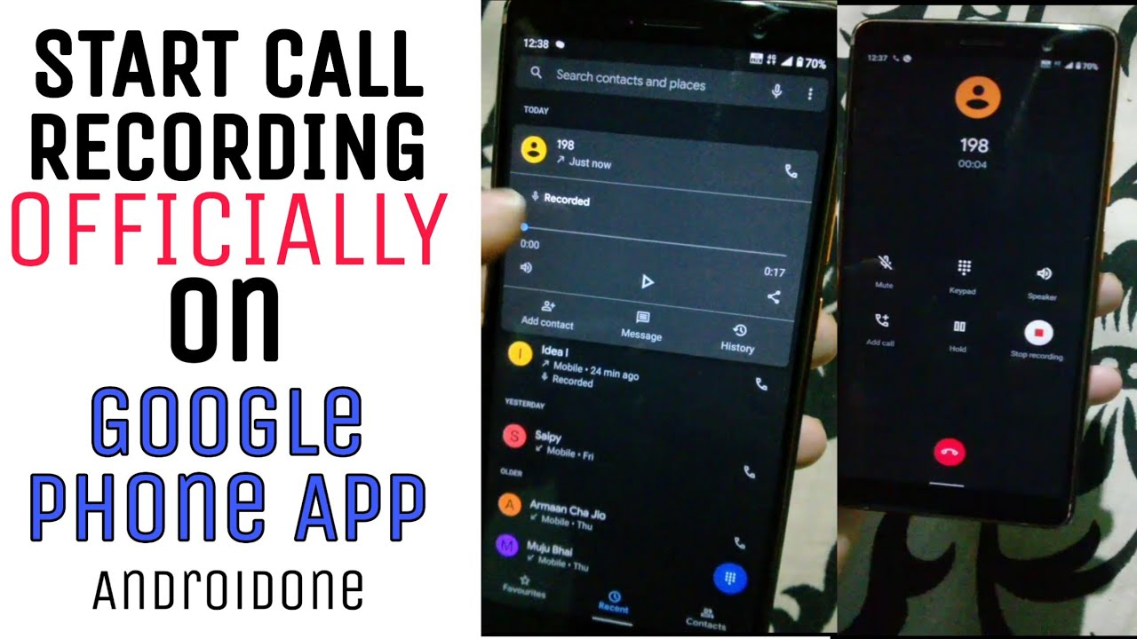Call Recording In Google Phone App Officially Stock Android Devices Nokia 7 Plus 8 1 9 Etc Youtube