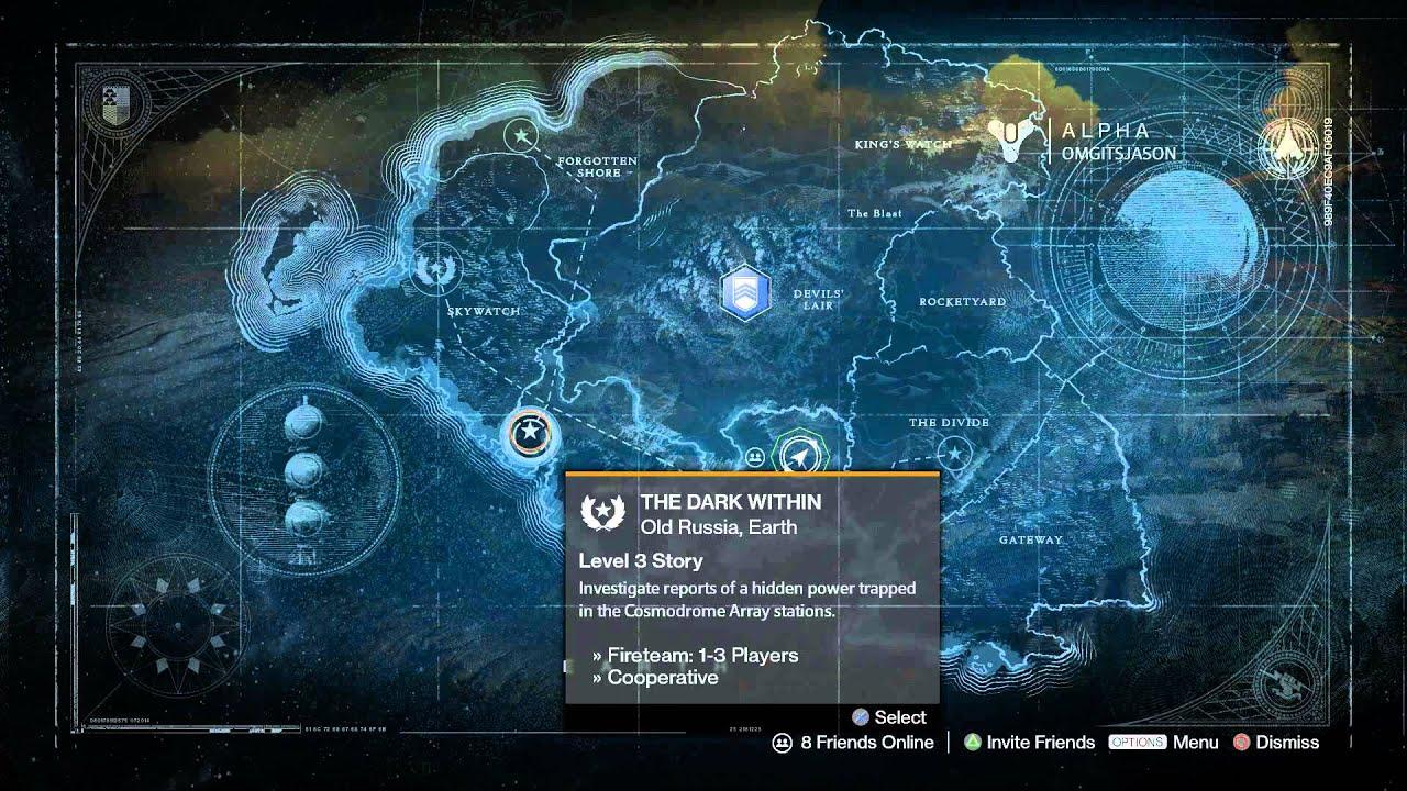 Destiny  Alpha Earth Old Russia World Map Explore Cosmodrome