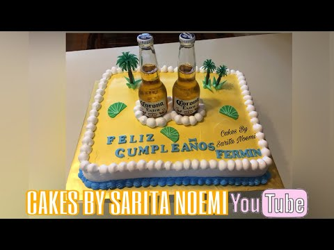 BEER CAKE | PASTEL CON CERVEZAS | 3 LECHES | PARA HOMBRE-FOR MAN | BIRTHDAY CAKE | TORTA | BIZCOCHO
