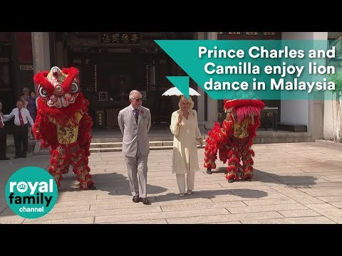 Prince Charles and Camilla enjoy lion dance in Malaysia