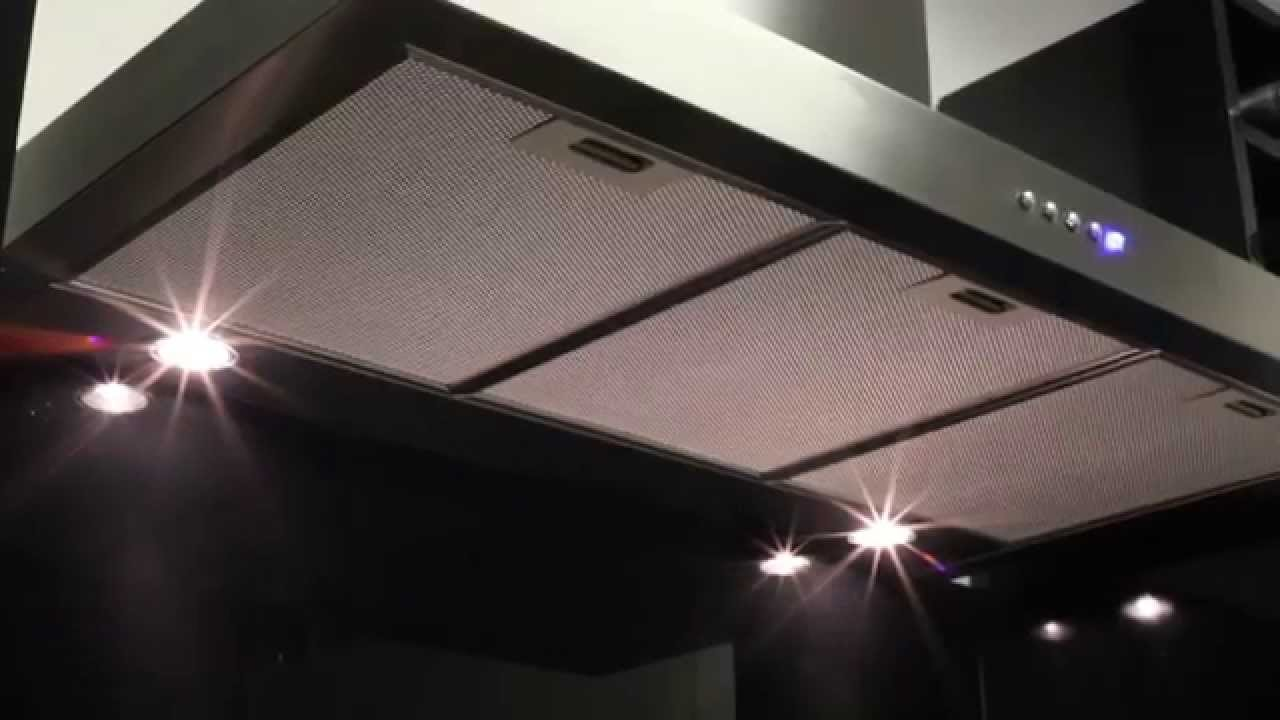 Slimline Flat Cooker Hood  60cm   110cm   Luxair Cooker Hoods   YouTube