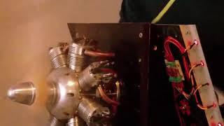 moteur 7 cylindres en étoile WT2527 7, radial model engine