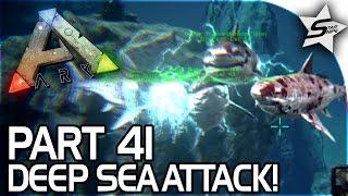 BRUTAL DEEP SEA ATTACK!! - FULL SCUBA GEAR! - ARK Survival Evolved PS4 Gameplay Part 41