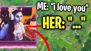i ran into this girl streamer and THIS happened on Fortnite...
