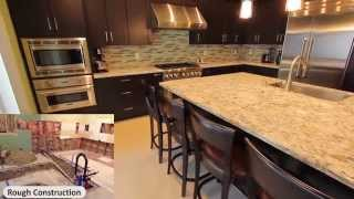 Design Build Rowland Heights Modern Black L-shaped Kitchen With Custom Cabinets By Aplus