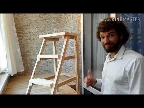 Барный стул-лестница своими руками