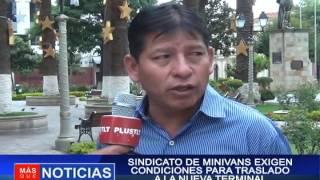 SINDICATO DE MINIVANS EXIGEN CONDICIONES PARA TRASLADO A LA NUEVA TERMINAL