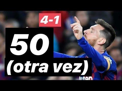 4-1 ¿Messi tiene límite? Otro año con 50 goles. Barcelona vs Alaves #MundoMaldini