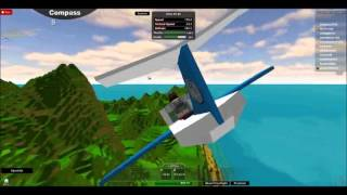 Blue Gaming First Video Of me flying a plane on roblox aww ya!