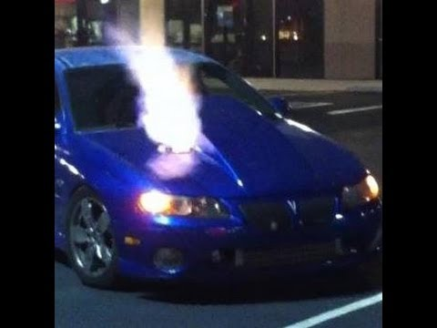 Turbo Gto shooting flames with 2 step set at 4300 rpm ...