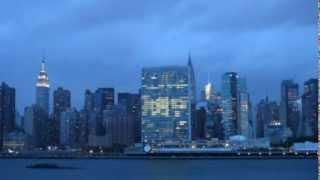 Chrysler Building Switches Light On