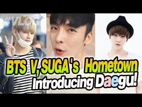 BTS V, SUGA's hometown, Daegu (Taegu) // Vlog in Korea // 대구 여행기~!