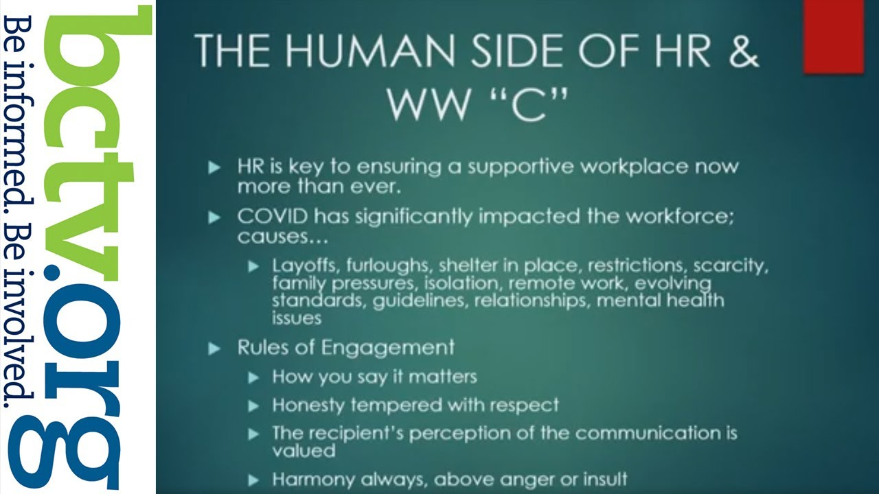 """HR in the COVID-19 Word - WW""""C"""""""