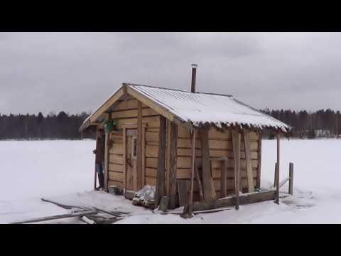 Плавающая баня зимой. Испытание во льдах)