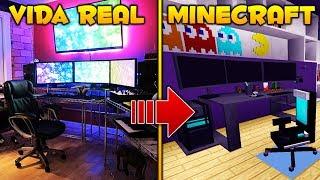 SET-UP GAMER EN MINECRAFT VS VIDA REAL! | COMPLETAMENTE INCREÍBLE! 😱