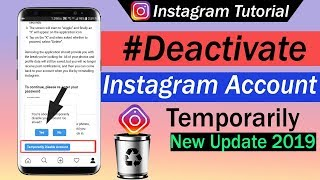 How To Deactivate Instagram Account Temporarily 2019
