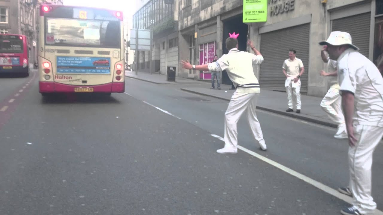 Street cricket in Liverpool