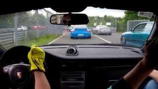 Porsche 997.1GT3CS Cup 1 vs Lamborghini Huracán @ Nür