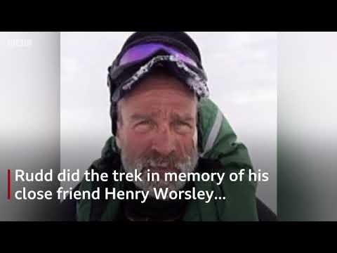 Capt Lou Rudd is first Briton to cross Antarctic unaided