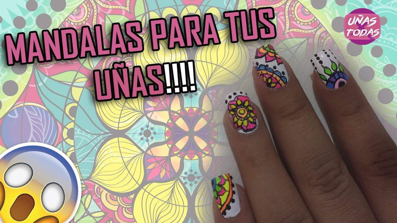 U as decoradas con mandalas u as para todas youtube - Unas decoradas faciles ...
