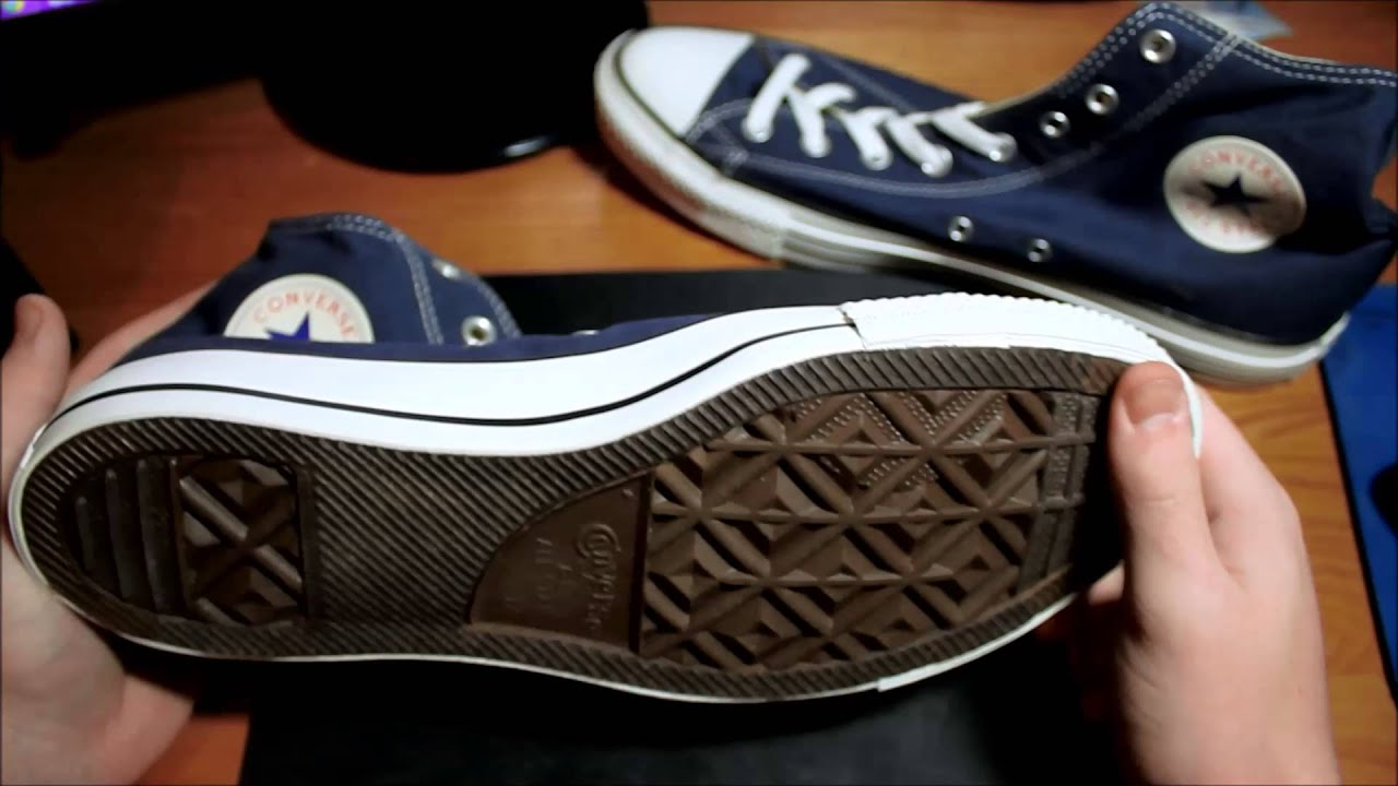 339df875eb527d Navy Blue Converse Unboxing - YouTube