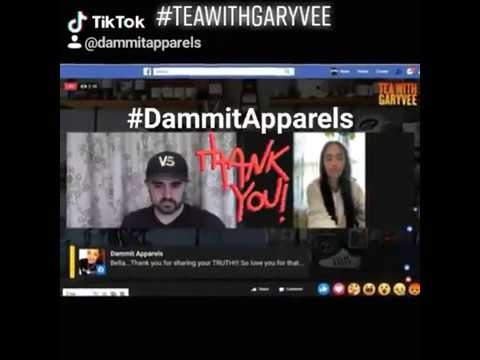 Tea With Gary Vee | Monday 9am ET | 5-18-2020 | Dammit Apparels on Tiktok 💢