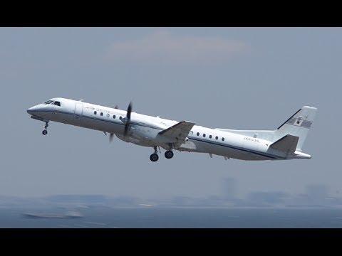 Japan Civil Aviation Breau (JCAB) Saab2000 (JA003G) 東京国際空港(羽田空港) 離陸