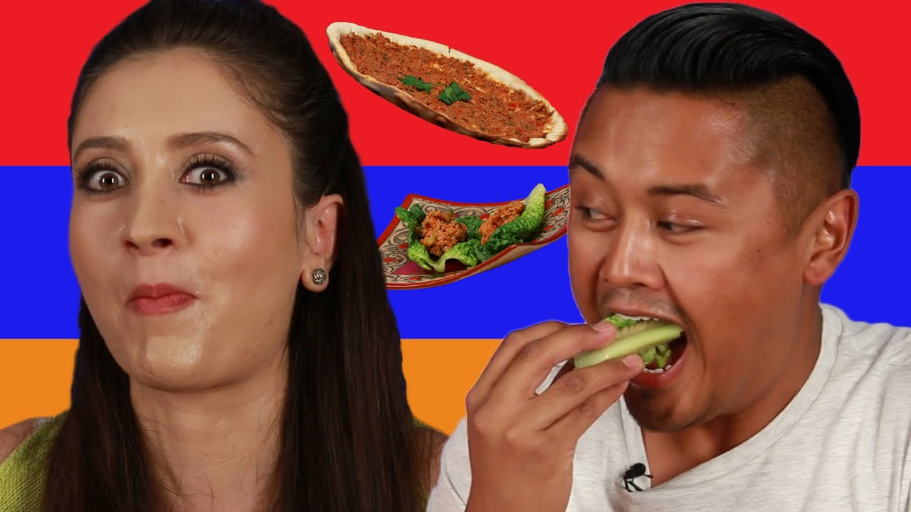 people try armenian food for the first time youtube