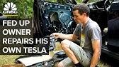 This Tesla Model S Owner Repairs His Own Car