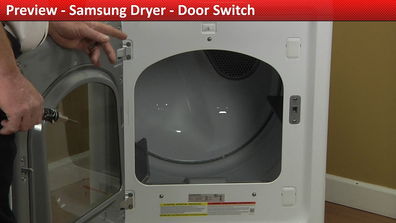 Door Switch Repair Samsung Dryer Youtube