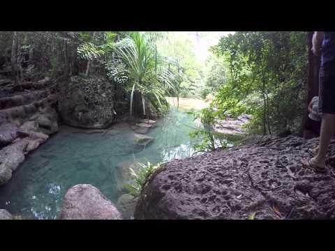"Thailand Vacation Day 4; Erawan National Park & Train ride along the ""Death Railway"""