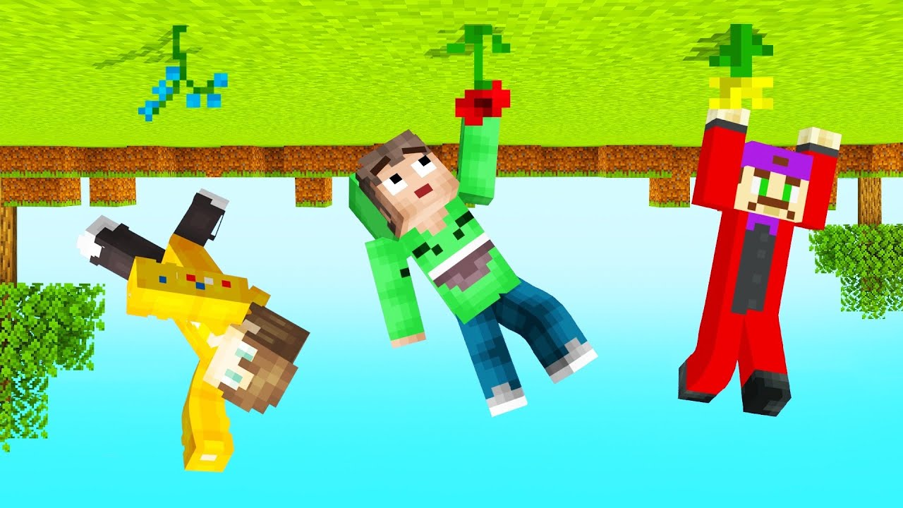 MINECRAFT But EVERYTHING Is UPSIDE DOWN! (Impossible)