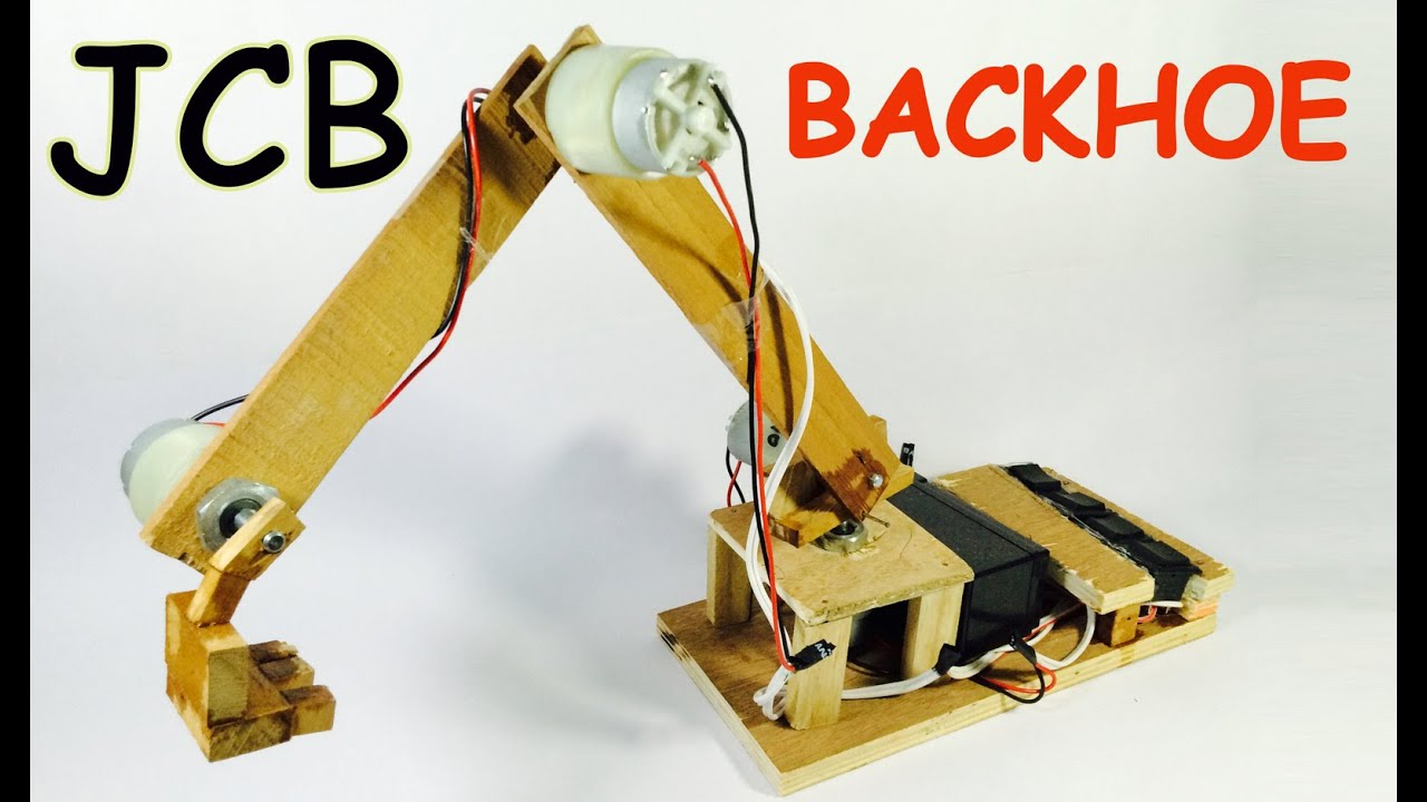 Diy Project How To Make Jcb With Motor At Home Easily Backhoe Diy Project