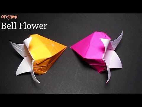 Bell flower easy origami bell flower instructions for beginners bell flower easy origami bell flower instructions for beginners youtube mightylinksfo