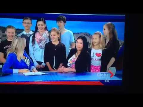 Kelowna Polish School live on Global news