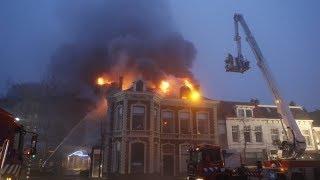 Nieuws: Felle brand bij binnenstad Zwolle