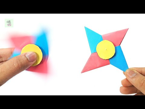 How To Make A Paper Fidget Spinner WITHOUT BEARINGS| Ninja Star Paper Fidget Spinner |Easy