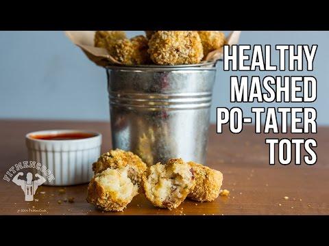 Healthy Mashed Po-Tater Tots / Croquetas de Puré de Papas thumbnail