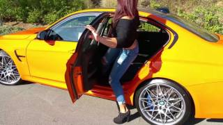 "NEW BMW M3 Fire Orange / Competition Package / Exhaust Sound / 20"" M Wheels / BMW Review"