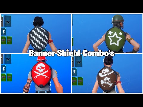 Top 10 Banner Shield Combo's!!! (Skin Combos) #Fortnite #BlackKnight #SkinCombos #Top10