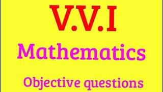 Mathematics objective